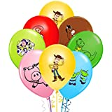 Merchant Medley 28 Count Toy Inspired Birthday Party Balloons - Large 12 Inch Size - High Quality - Includes 7 Styles