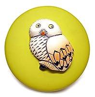 陶器 動物 置物 ボックスコレクション【白フクロウB36】