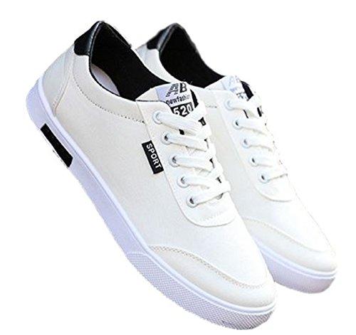 Foras69 (フォラス69) メンズ ローカット ホワイト スニーカー スポーツ シューズ 軽量 靴 白 帆布 運動靴