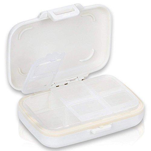 mircorange ピルケース 薬ケース サプリメントケース 携帯用 常備薬 (白)