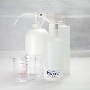プリュテック 次亜塩素酸精製水 500mlスプレーボトル入り+1L原液+1Lポンプ式スプレーボトル(容器のみ)