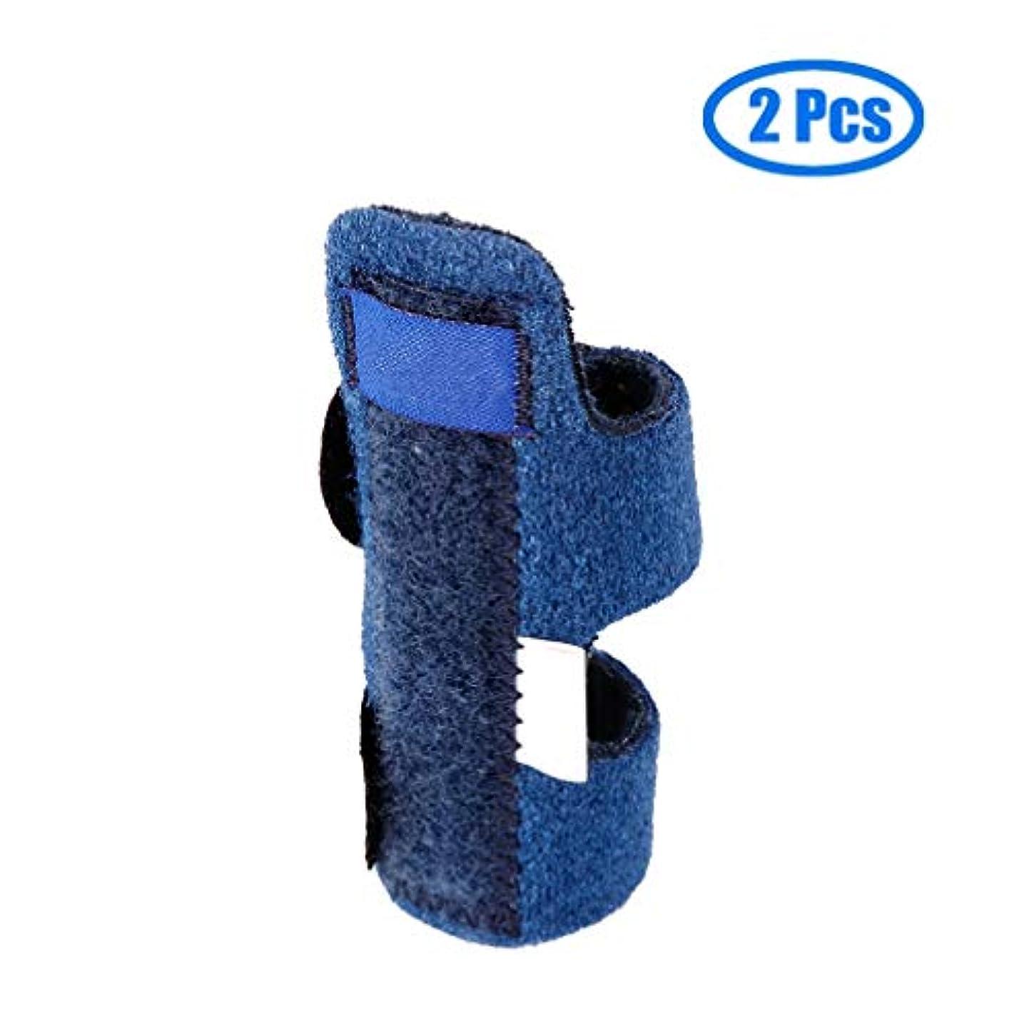 便利さ薄いピケトリガーフィンガースプリント、トリガーフィンガーブレース、ビルトインアルミサポートトリガー、マレットフィンガーミドルフィンガー、ピンキーフィンガー、関節炎、ブロークンフィンガー(2パック)