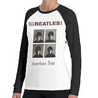 BEATLES ビートルズ AMERICAN TOUR 1964 Tシャツ ラグラン 無地 長袖 丸首 ティシャツ シンプル 春 夏 秋 おしゃれ 格好いい カジュアル 柔らかい 快適 S~2XL 通気性 人気 Women アルバイト