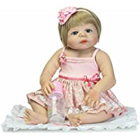 フルボディシリコンガールReborn新生児ベビービニール人形22インチLifelikeおもちゃwith磁気口