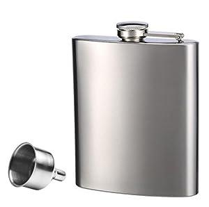 voocye スキットル 8oz 220ml 携帯スキットルウイスキー 清酒ボトル ヒップ フラスコ ステンレス キャンプ用品
