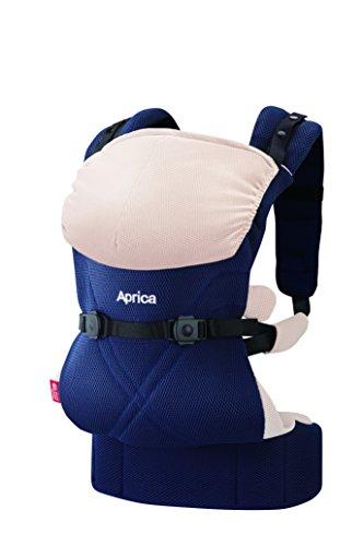 Aprica (アップリカ) 抱っこひも コラン CTS AB コンフォート ネイビー NV 4WAYタイプ 【疲れにくい腰ベルト & モッチリ肩パッド付】 39574
