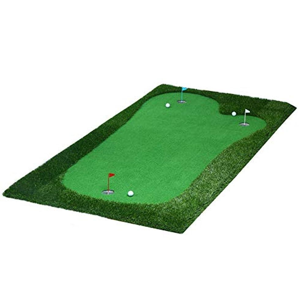 光ののれんサンダーゴルフ練習用マット 環境に優しいゴム製の携帯用緑の小型専門のゴルフ屋内パターの練習のカーペット ゴルフグラス練習用マット (色 : Thicken, サイズ : 1.5*3m)