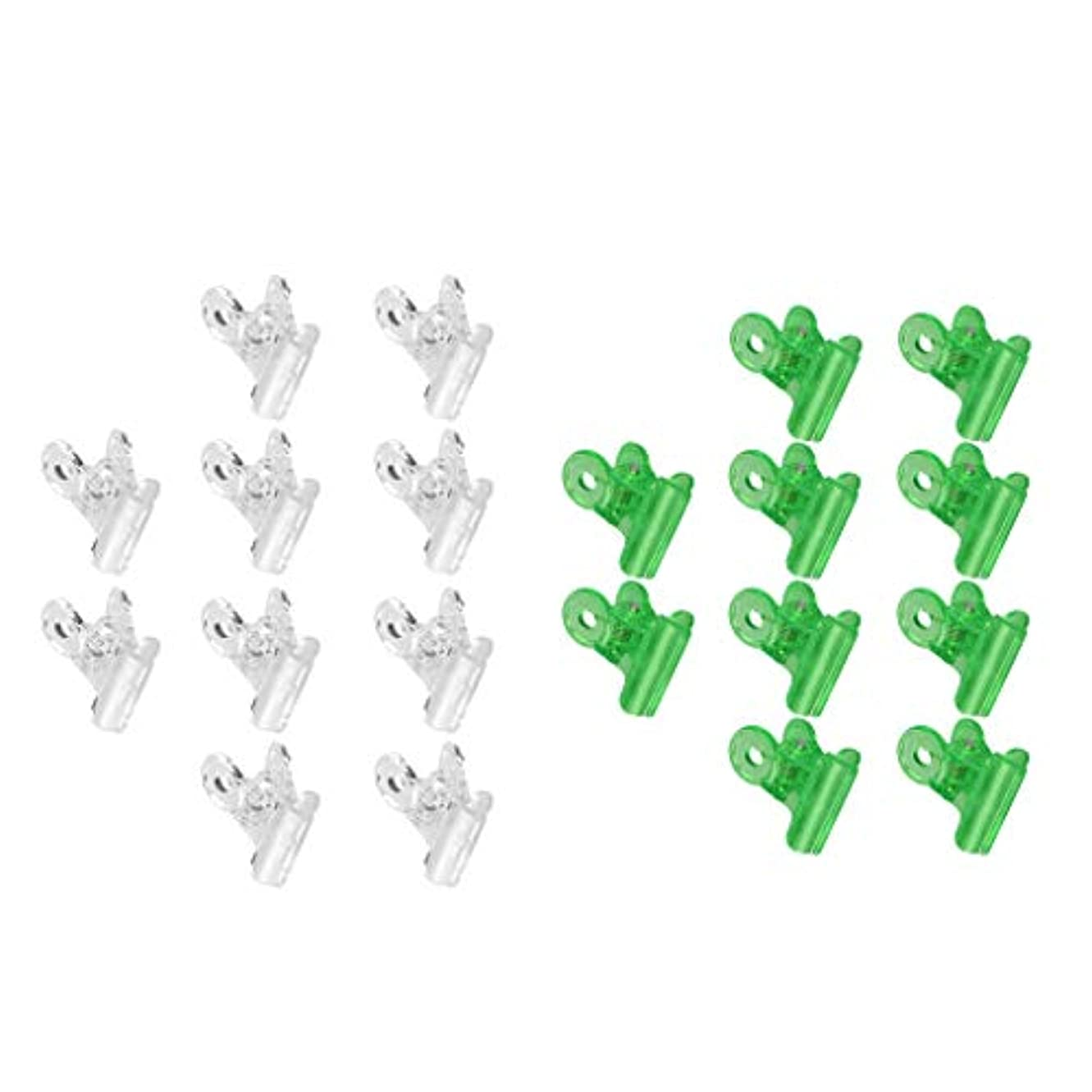 砲撃マイクロプロセッサ書誌CUTICATE ネイルクリップ ネイルアート ジェルネイルポリッシュ クリーナー ネイルツール ネイルクリップ 全3種 - グリーン+クリア