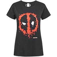 Deadpool Marvel Splat Mask Logo Women's T-Shirt
