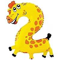 Shenguang アルミ バルーン 風船 アニマル 動物の数字 ナンバー 誕生日 パーティー お祝い 記念日 飾り (数字:2)