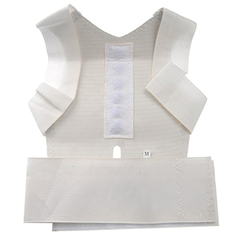 ROSENICE 肩筋サポート 姿勢矯正ベルト 男女兼用(ホワイト)