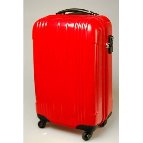 スーツケース キャリーバッグ ABS樹脂製 50cmタイプ レッド