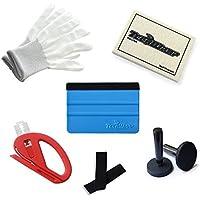 TECKWRAP カーラッピング用工具キット:グローブ(手袋)、羊毛スキージ、スキージー(フェルト付)、安全カッター、フェルト、マグネット