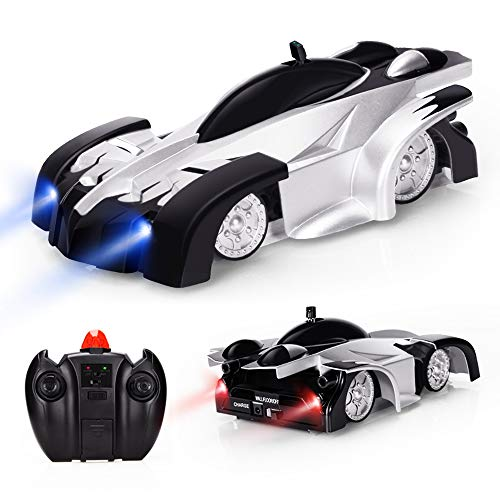 EpochAir ラジコンカー 車のおもちゃ 壁を走る おもちゃ カー 無線操作 リモコンカー 赤外線コントロール 電動RCカー 室内 WALL ROUNDER 壁・天井・床 激走カー LED搭載 360度回転 子供のおもちゃ