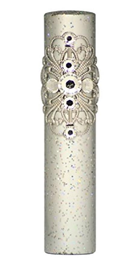 バナーご飯医薬品ヒロセアトマイザー ラメクレオパトラ アルミアトマイザー 32191 SV (ラメクレオパトラ シルバー) スワロフスキー7石付