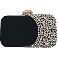Womens Rhinestone Evening Bag Bridal Clutch Purse Wedding Party Cocktail Handbag