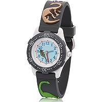 ARIALK キッズ 腕時計 子供 用 恐竜 ウォッチ ボーイズ 男の子 男子 小学生 アナログ 卒園 入学祝い (グレー)