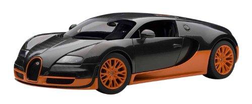 Autoart 1 18 Bugatti Veyron Super Sport (nero Carbón arancia) Jp