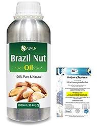 Brazil Nut (Bertholletia excelsa)100% Natural Pure Carrier Oil 1000ml/33.8fl.oz.