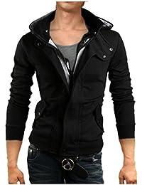 (ワン アンブ) ONE UMB パーカー ジャケット 薄手 裏起毛 フード付き ライダース ジャケット M ~ XXXL メンズ