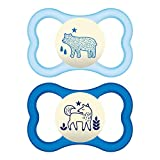 MAM Air Night Orthodontic Pacifier,2 Pack, Boy, 6+ Months