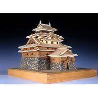 木製日本建築模型 木製建築模型 1/150 松江城 p-6468