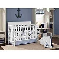 Bacati Little Sailor Navy Blue Boys 10-Piece Crib Bedding Set by Bacati