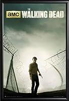 Framed Rick Grimes 24x 36The Walking Deadドライマウント基本詳細でポスター木製フレーム