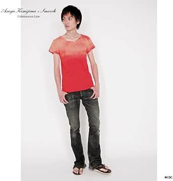 【君嶋麻耶×SMOOCH】後染めブリーチTシャツ サイズFree レッド