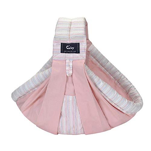 Vrbabies 新生児 ベビースリング (Pink stripes)