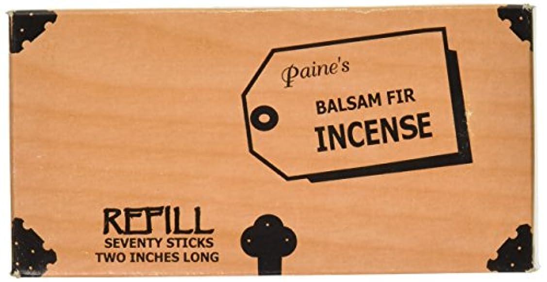 教義分布水没Paine's Balsam Fir Incense - 70 Sticks Refill - Two Inches Long by Paine Incense Company