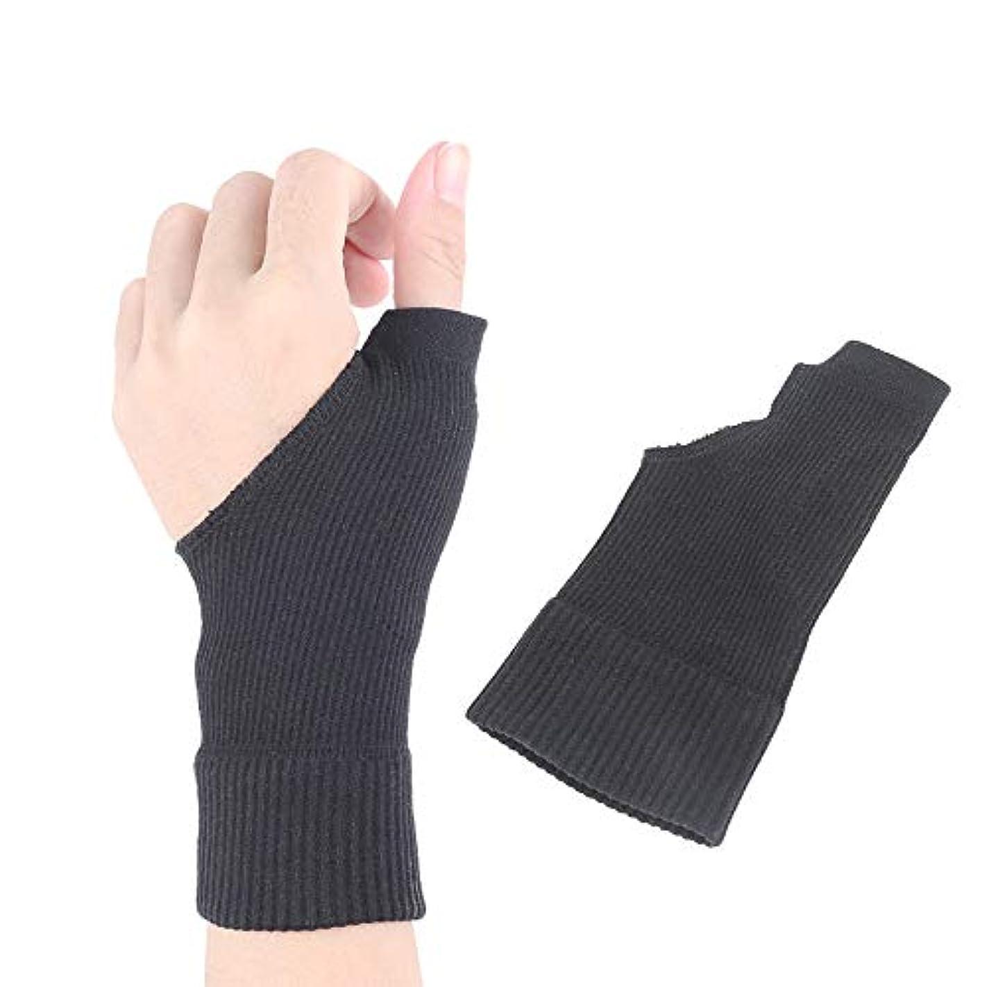 準拠かどうか飛ぶ手首と親指のサポート、関節炎、関節痛、腱炎、捻挫、手の不安定性に最適、女性男性用パック2