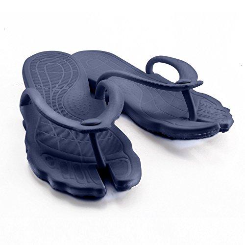 薫り薷 ビーチサンダル メンズ レディース サンダル トング 滑り止め 海 軽量 EVA スポーツサンダル 携帯スリッパ 旅行用品 フラットサンダル (XL(適合足長さ25-26㎝), ダークブルー)