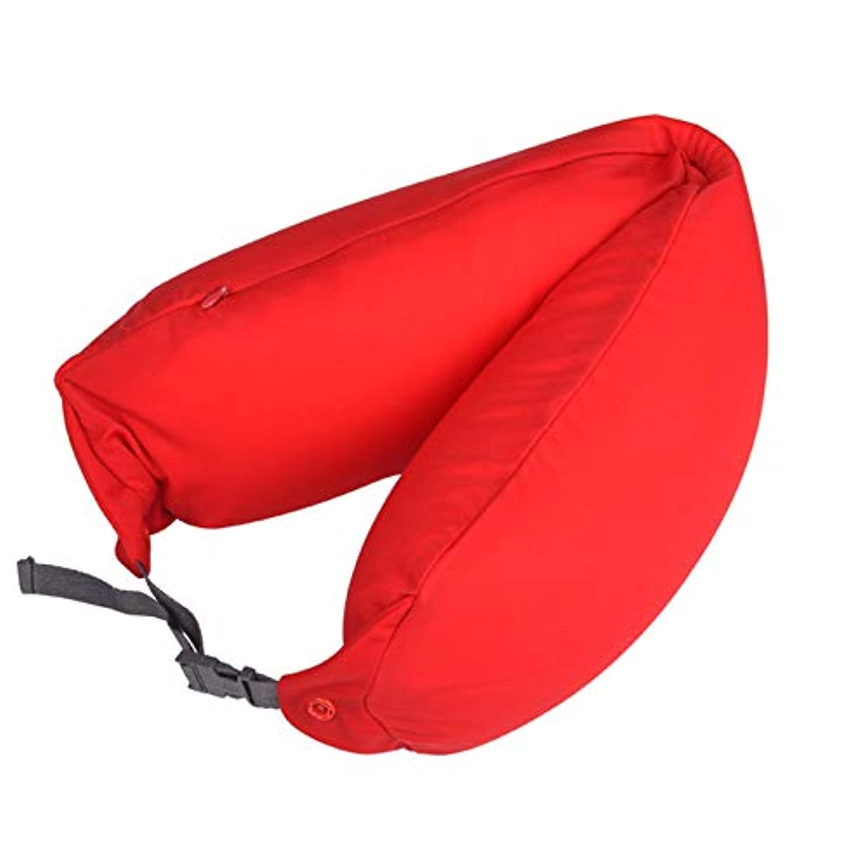 楽観的粒船形SMART ホームオフィス背もたれ椅子腰椎クッションカーシートネック枕 3D 低反発サポートバックマッサージウエストレスリビング枕 クッション 椅子