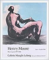 ポスター ヘンリー ムーア Seated Woman 1984 額装品 ウッドハイグレードフレーム(ホワイト)