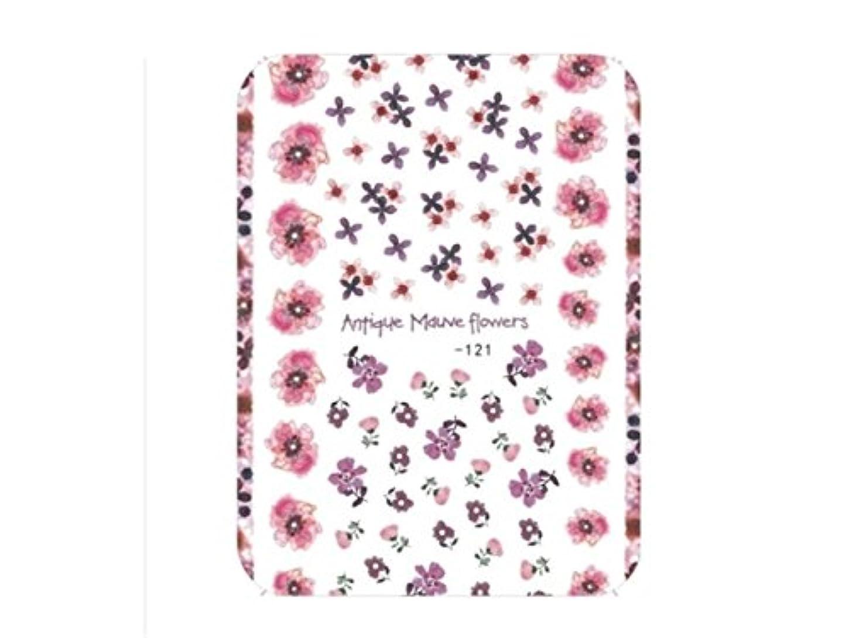 タップ儀式風変わりなOsize ファッションカラフルな花ネイルアートステッカー水転送ネイルステッカーネイルアクセサリー(示されているように)