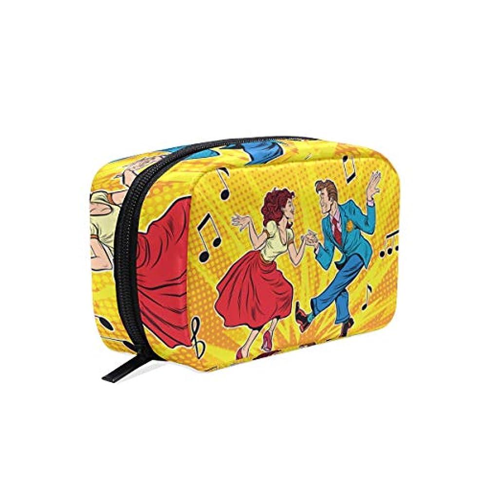 カウンタテーブル名目上のGUKISALA 化粧ポーチ,ビンテージダンスを踊るカップル男性女性,大容量コスメケース多機能旅行用高品質収納ケース メイク ブラシ バッグ 化粧バッグ ファッションバッグ