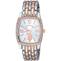 U.S. Polo Assn. Women's Stainless Steel Analog-Quartz Watch with Alloy Strap, Two Tone, 18 (Model: USC40235)