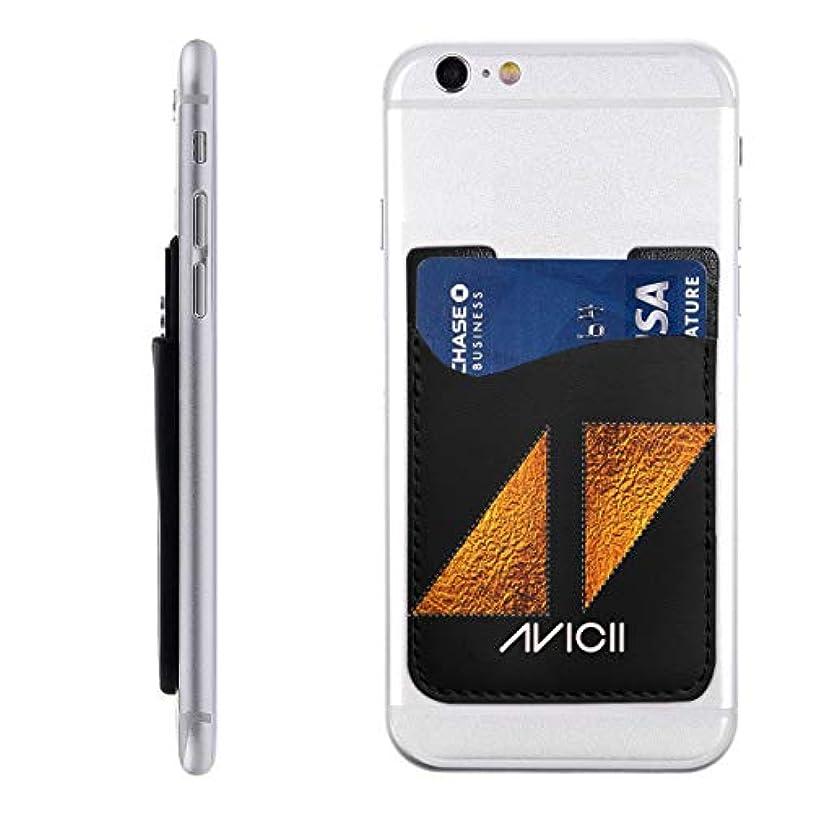 トレッドベルウイルスPU スマホ カードケース 貼り付け Avicii アヴィーチー ステッカーポケット カード収納 大容量 軽量 持ち運びが簡単 全機種対応 6.2X9CM