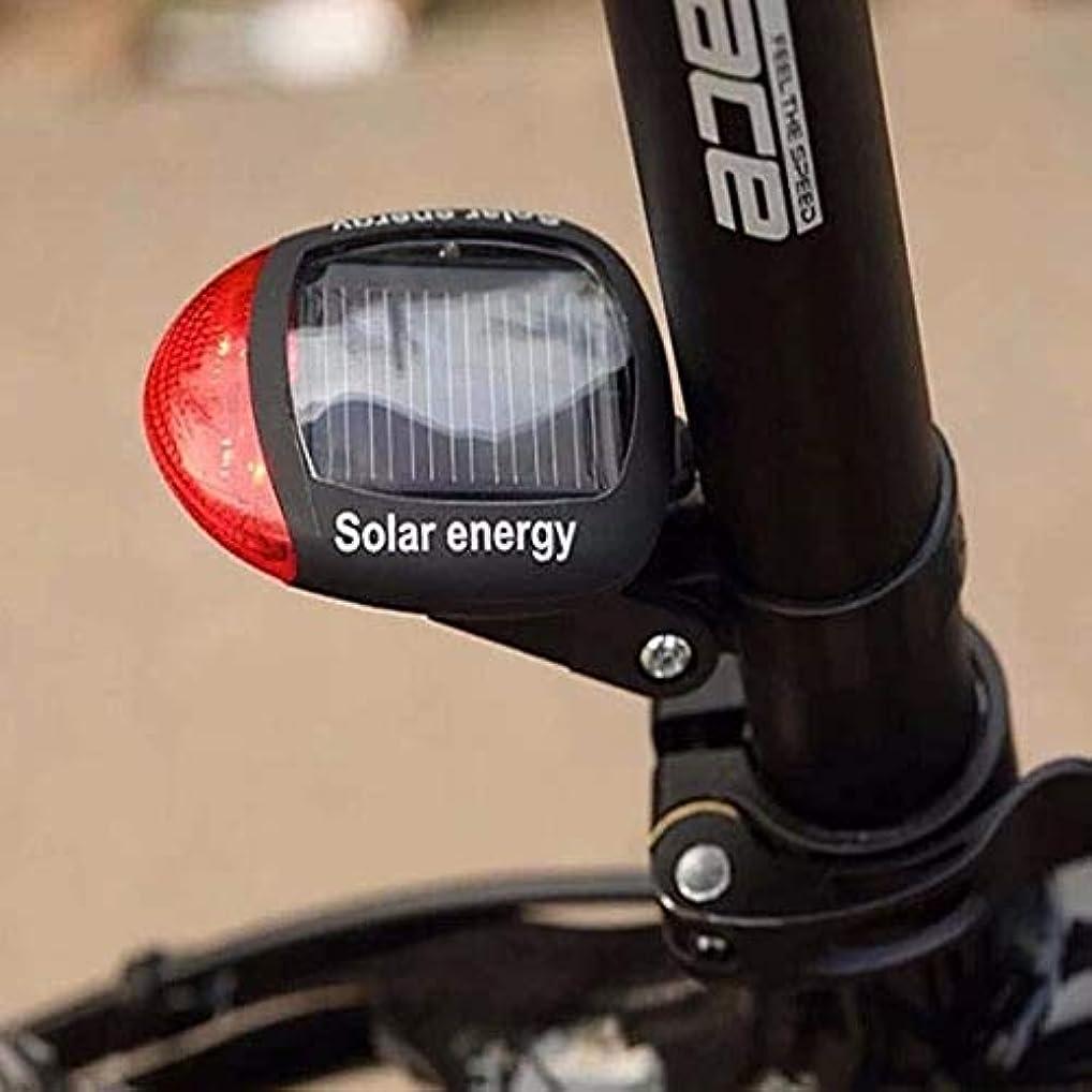 太陽光発電LEDバックライト自転車用テールライトサイクリングランプの安全性4モードバイクサイクリングテールLED +調節可能なクランプP20