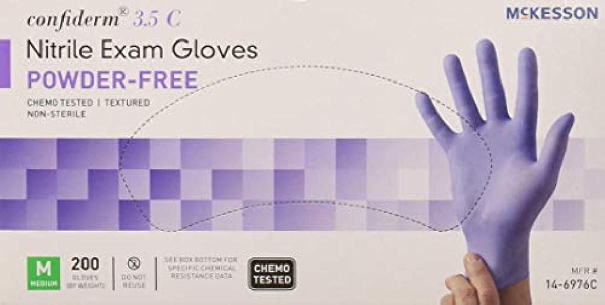 それハブ実際にMcKesson Confiderm 3.5C Nitrile Latex-Free MED Exam Gloves, Medium, Chemo Tested, Powder-Free, 200/BX by Sold...