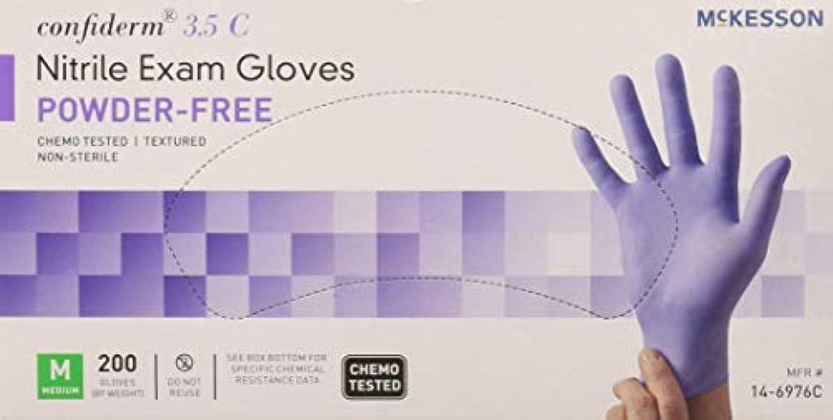 生物学珍しい流行McKesson Confiderm 3.5C Nitrile Latex-Free MED Exam Gloves, Medium, Chemo Tested, Powder-Free, 200/BX by Sold...