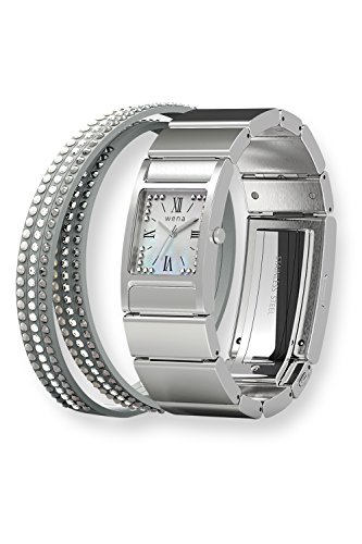 wena project Three Hands Square Silver -Crystal Edition- WN-WT12S