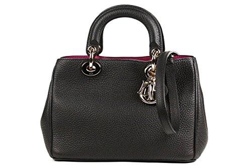 (ディオール)Dior ディオリッシモ 2WAYハンドバッグ ミニ ブラック×ローズピンク×ゴールド金具 M0915OTRL M900 [中古]