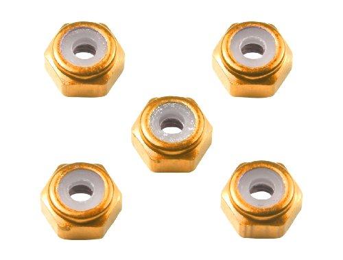 ミニ四駆限定シリーズ 2mm アルミロックナット (オレンジ5個) 94906