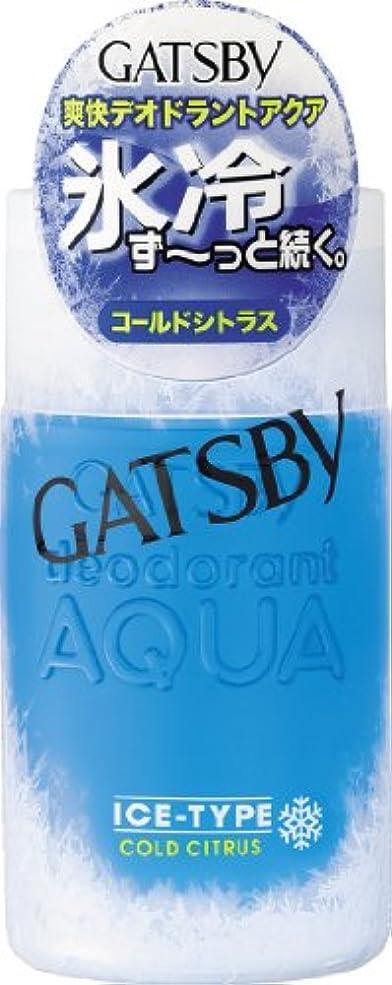 緩やかな違反潮GATSBY(ギャツビー) アイスデオドラントアクア コールドシトラス 160mL (医薬部外品)