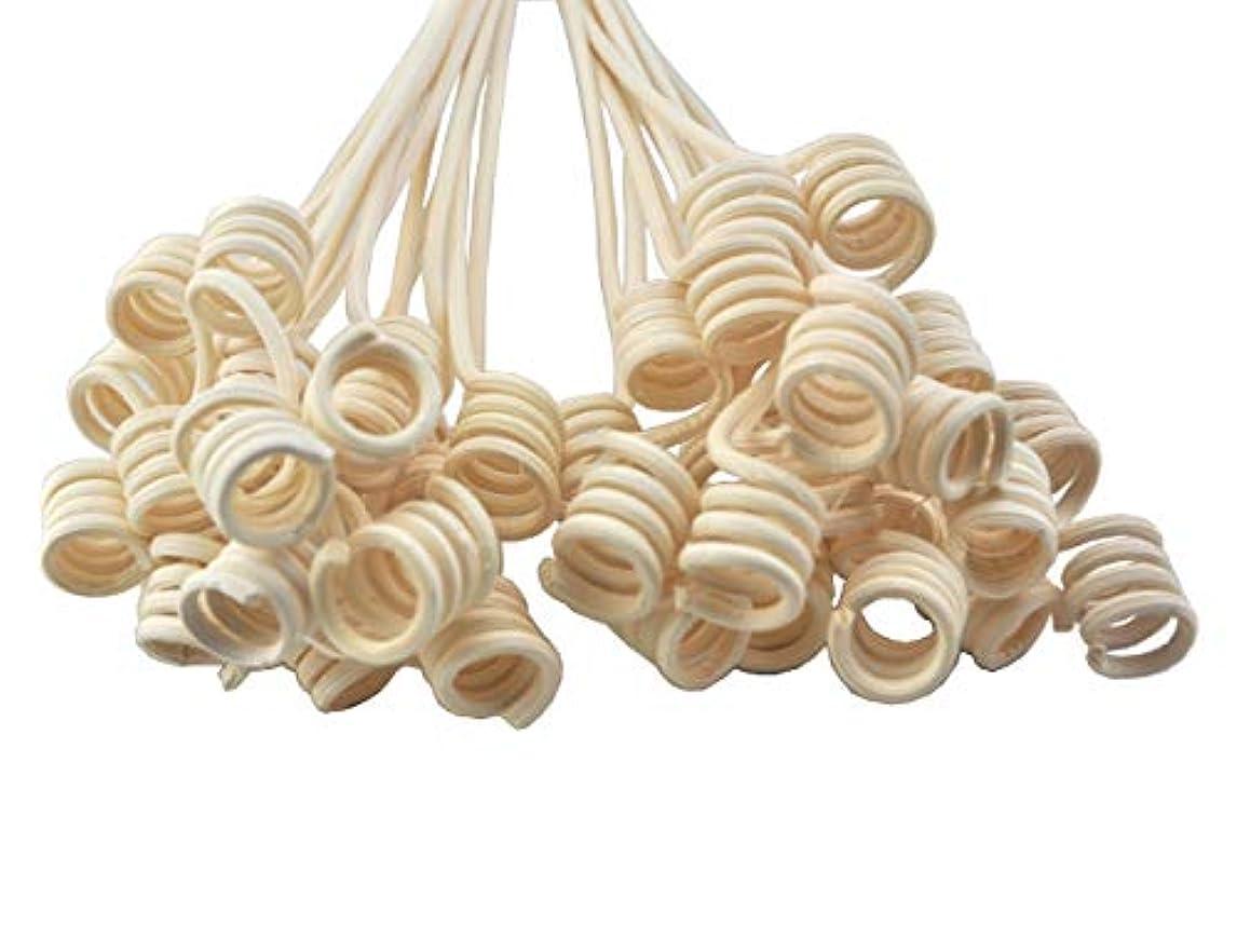 ベイビー空ベイビー20本入ナチュラルカラー手工芸品の生産 籐のリードアロマディフューザーの交換用スティック(27cm x 3mm ロール形状)