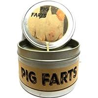 Pig Farts ( Smells Like Baconビット) 4オンスすべて自然ハンドメイドSoy Candle Tin