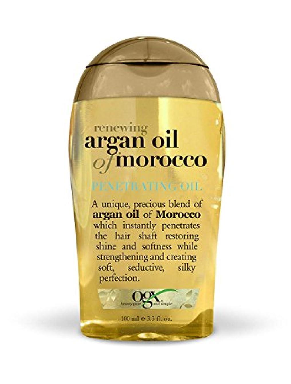 症状ソファーお尻Organix Moroccan Argan Oil Penetrating Oil 100 ml x 2 パック (並行輸入品)