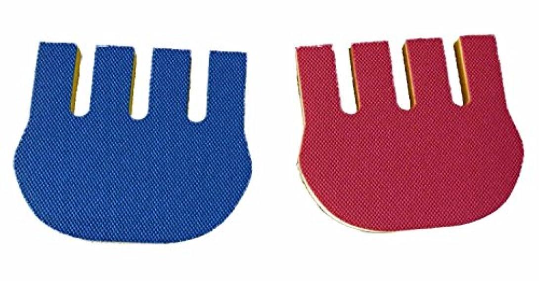 逃れるタイヤ幸運な拘縮予防フィンガーストレッチソフト2個組(レッド+ブルーの組み合わせセット) 【介護】【リハビリ】
